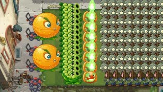 Plants vs Zombies 2 - Jack O' Lanten, Citron and Sling Pea vs all Zombies