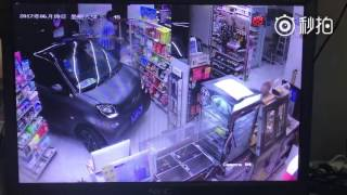 Man drives car into convenience store to purchase snacks