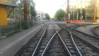 preview picture of video 'Karlsruhe Tram / Трамвай / Straßenbahn Linie 1: Durlach Turmberg - Oberreut Badeniaplatz (5x)'