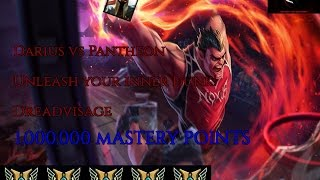 Darius vs Pantheon [7.1] -- Top Gameplay -- 1,000,000 MASTERY POINTS -- Dreadvisage --