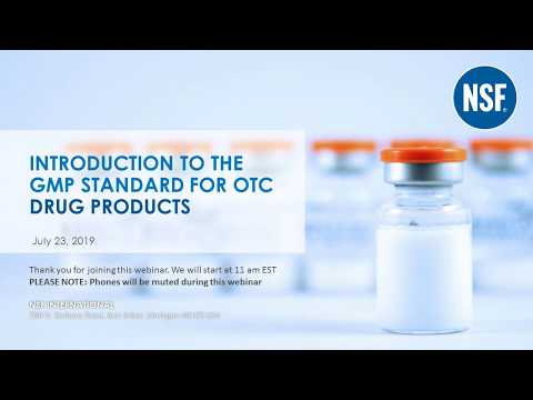 Introduction to GMP Standards for Over the Counter Drugs - YouTube