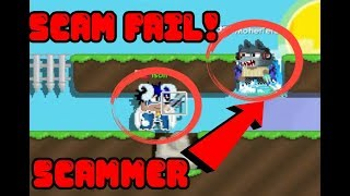 Growtopia - NEW SCAM 2017! SCAM FAILED SCAMMER!