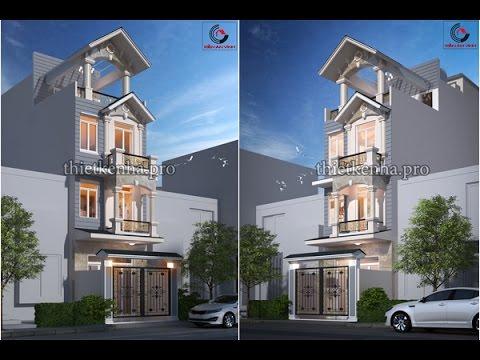 Mẫu Thiết Kế Nhà Đẹp 2 Tầng 3D Full HD
