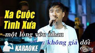 Karaoke Xa Cuộc Tình Xưa Tone Nam   Quang Lập | Nhạc Vàng Bolero Karaoke