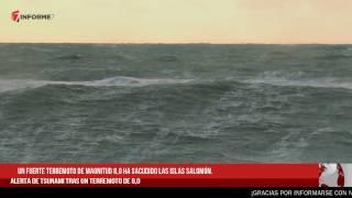 Terremoto de 8,0 en las Islas Salomón y Papúa Nueva Guinea, Alerta de Tsunami
