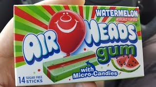 Airheads Watermelon Gum Review - Wreckless Eating