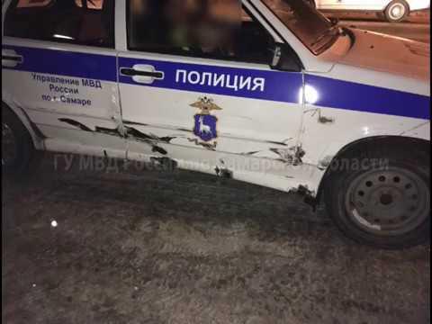 Самарские полицейские таранили пытавшегося скрыться водителя