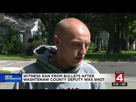 Witness recounts moments before Washtenaw County deputy was shot in Superior Township