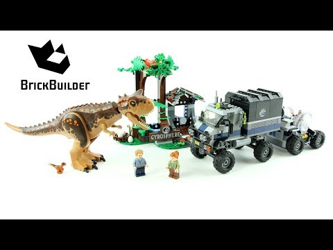 Vidéo LEGO Jurassic World 75929 : Le Carnotaurus et la fuite en Gyrosphère