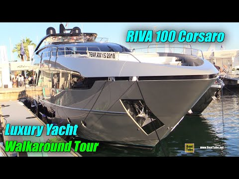 2019 Riva 100 Luxury Yacht – Deck and Interior Walkaround – 2018 Cannes Yachting Festival