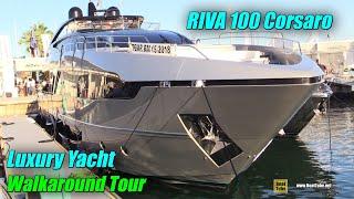 2019 Riva 100 Corsaro Luxury Yacht - Deck And Interior Walkaround - 2018 Cannes Yachting Festival