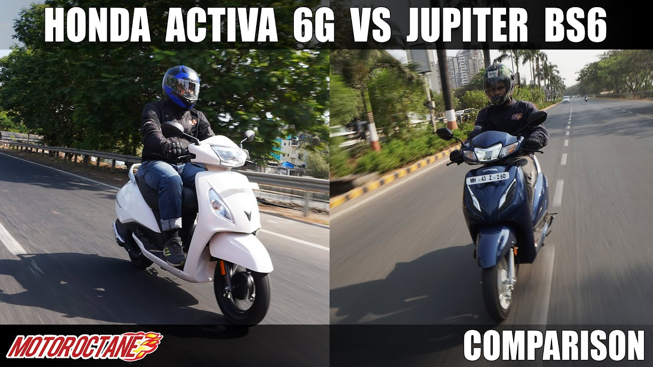 Motoroctane Youtube Video - Honda Activa 6G vs TVS Jupiter BS6 Comparison | Hindi | MotorOctane