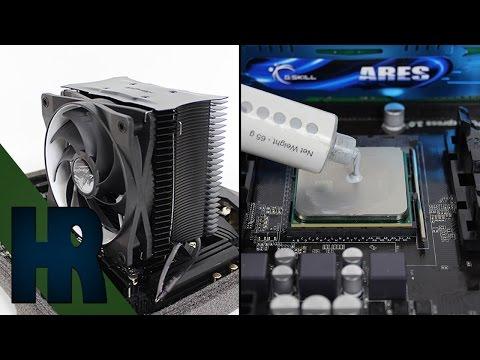 CPU Kühler einbauen & Wärmeleitpaste auftragen Prozessor Tutorial Deutsch - PC Bauen Part #4