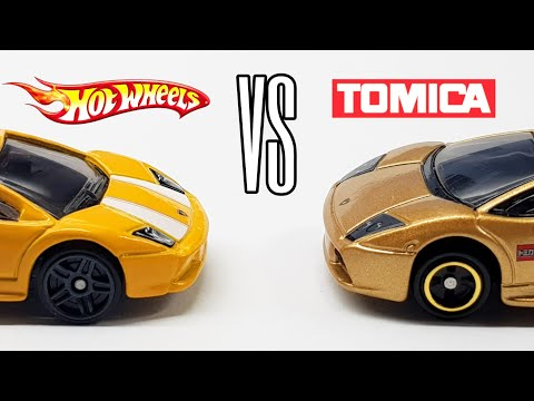 HOT WHEELS VS TOMICA - Lamborghini Murcielago Comparison