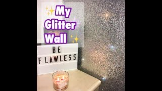 MY GLITTER WALL! DEMO & ANSWERING YOUR QUESTIONS!