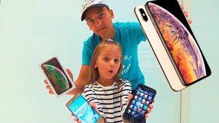 Дети РАЗБИЛИ телефоны КУПИЛИ Iphone Xs Max Gold ПОТРАТИЛИ все деньги ПОДАРОК для Насти и новый чехол