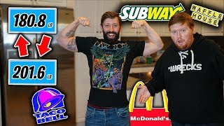 Who can GAIN or LOSE the MOST WEIGHT in 24 Hours Challenge (ft. Mcjuggernuggets & Kidbehindacamera)