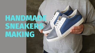 Leather Shoes For Men Made By Hand. Handmade Sneakers Making