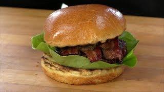 Bourbon Butter Bacon Burger Recipe! (Primo Round) - Video Youtube