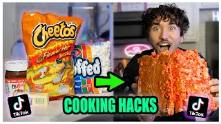 We TASTED Viral TikTok Cooking Life Hacks... (Hot Cheeto Rice Crispy?) *Part 7*