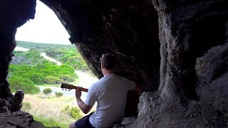 Acoustic Guitar in a Cave