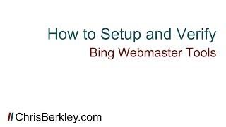 How To Setup & Verify Bing Webmaster Tools