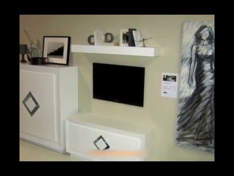 mueble modular para saln de diseo madera roble