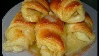 Рецепт слоек с яблоками