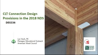 CLT Connection Design Provisions in the 2018 NDS
