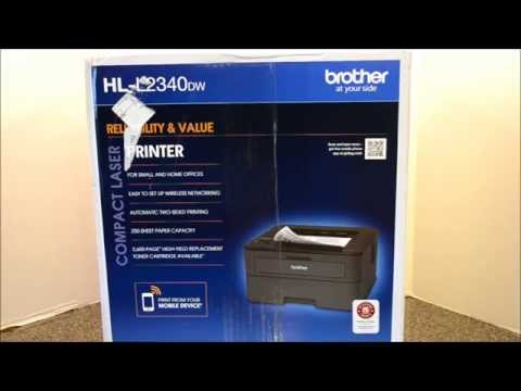 Review Brother HL-L2340DW Compact Laser Printer Unboxing