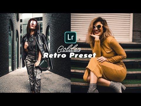 Golden Retro Preset For Lightroom Mobile - Free Lightroom Mobile