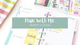 PLAN WITH ME // SKINNY CLASSIC // HAPPY QUOTES + COLOR STORY // AUG 17-23