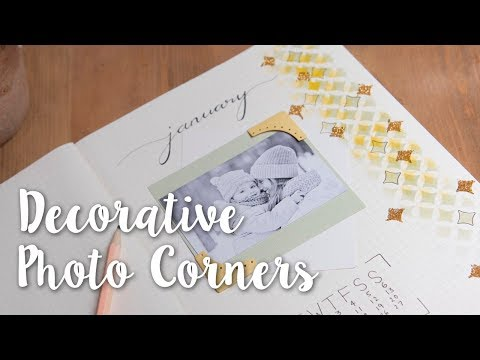 Fun Corner Ideas for Photo Frames! Easy Scrapbooking DIY