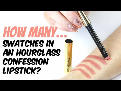 THE MAKEUP BREAKUP - How Many Swatches In An Hourglass Confession Lipstick + Weight Check