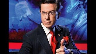 Stephen Colbert  Ottawa Shooting  Sings National Antherm O Canada  10 29 2014