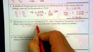Gay Lussac's Law - example problems