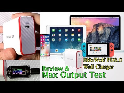 BlitzWolf BW-PL4 PD3.0 Type C USB Wall Charger - Review and Max Output Test