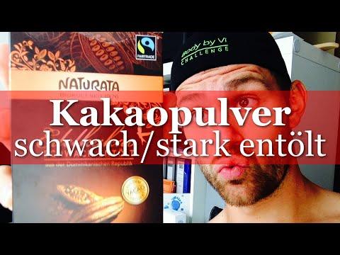 Stark oder schwach entöltes Kakaopulver?