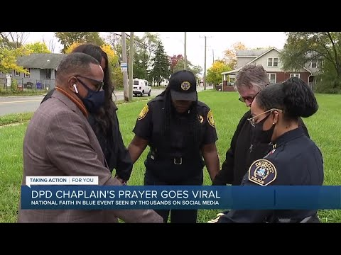Detroit police chaplain's prayer for the city goes viral
