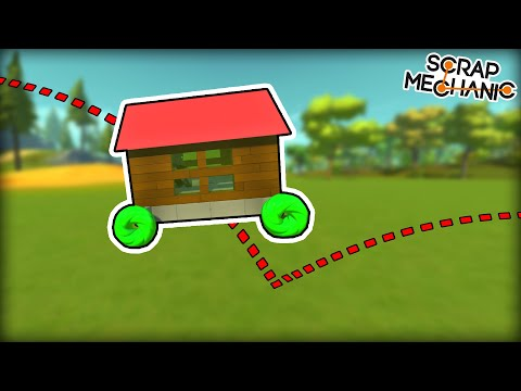 Racing With EXTREME Bouncing Wheels.... Also I Built a House. (Scrap Mechanic Multiplayer Monday)