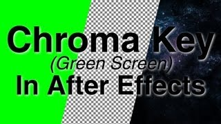 How to Chroma Key (green screen) - Adobe After Effects tutorial