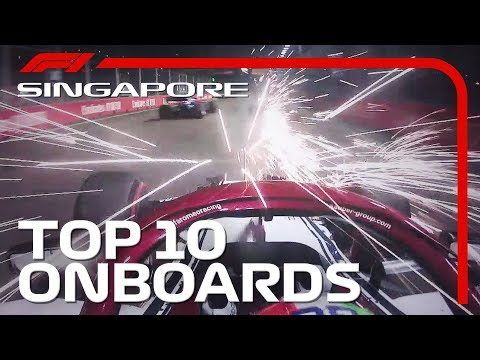 Street Fighting, Spark Showers, And The Top 10 Onboards | 2019 Singapore Grand Prix