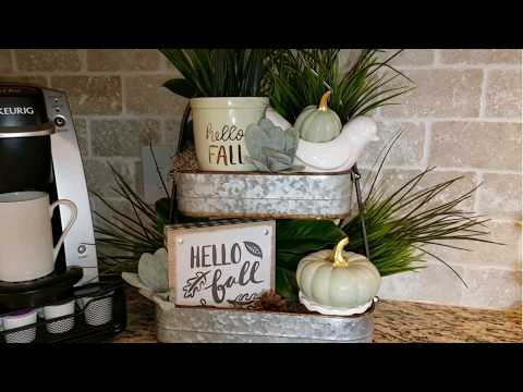 🍁Fall  Tiered Tray  Challenge 🍁Farmhouse Inspired🍁