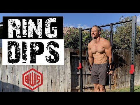 Rings training progression 2: Rings dips