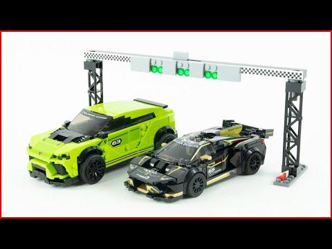 Vidéo LEGO Speed Champions 76899 : Lamborghini Urus ST-X & Lamborghini Huracán Super Trofeo EVO