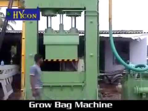 Coco Pith Grow Bag Machine