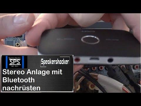 Musikanlage mit Bluetooth nachrüsten BT Transmitter Aukey BR-C11 Ton via Bluetooth weiterleiten