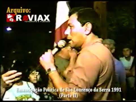 Emancipação de São Lourenço da Serra em 1991............. Vídeo Arquivo da Reviax
