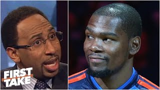 Stephen A. gets heated on First Take debating if Kevin Durant is top 3 in NBA (2014) | ESPN Archive