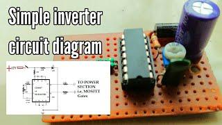 simple inverter circuit diagram 12v to 220v   inverter using cd4047